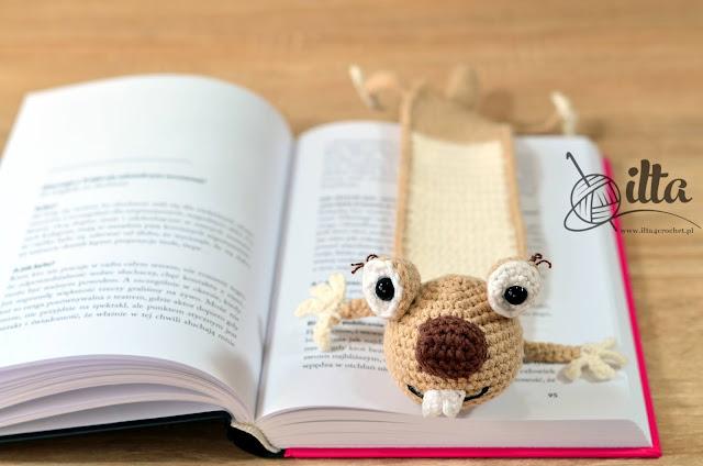 Sid ice age crochet bookomark