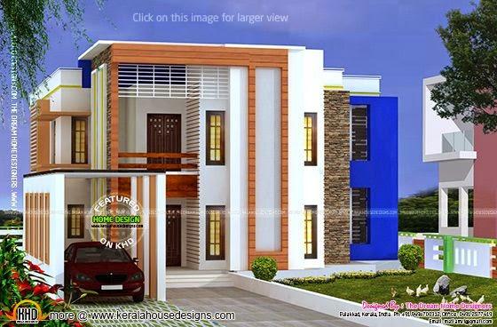 Modern house with floor plan
