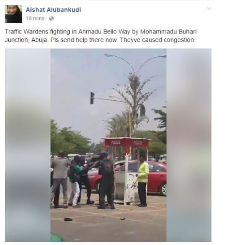 Nigerian Policemen Engaged in Public Fight in Abuja (Photos)+Video