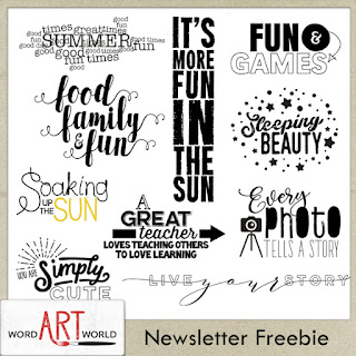 NEW June 2018 Word Art Pack Freebie!