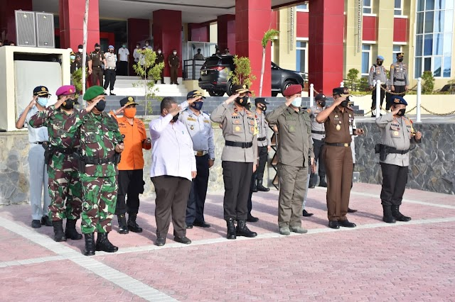 Danrem 132/Tadulako Menghadiri Apel Gelar Pasukan Operasi Ketupat Tinombala 2021 di Mapolda Sulteng || dutametro