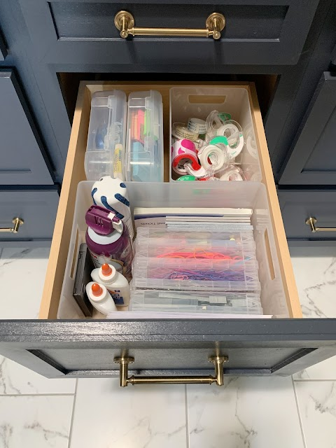 office supply organization drawer