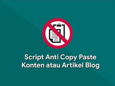 Cara Agar Artikel Tidak Di Copy Paste