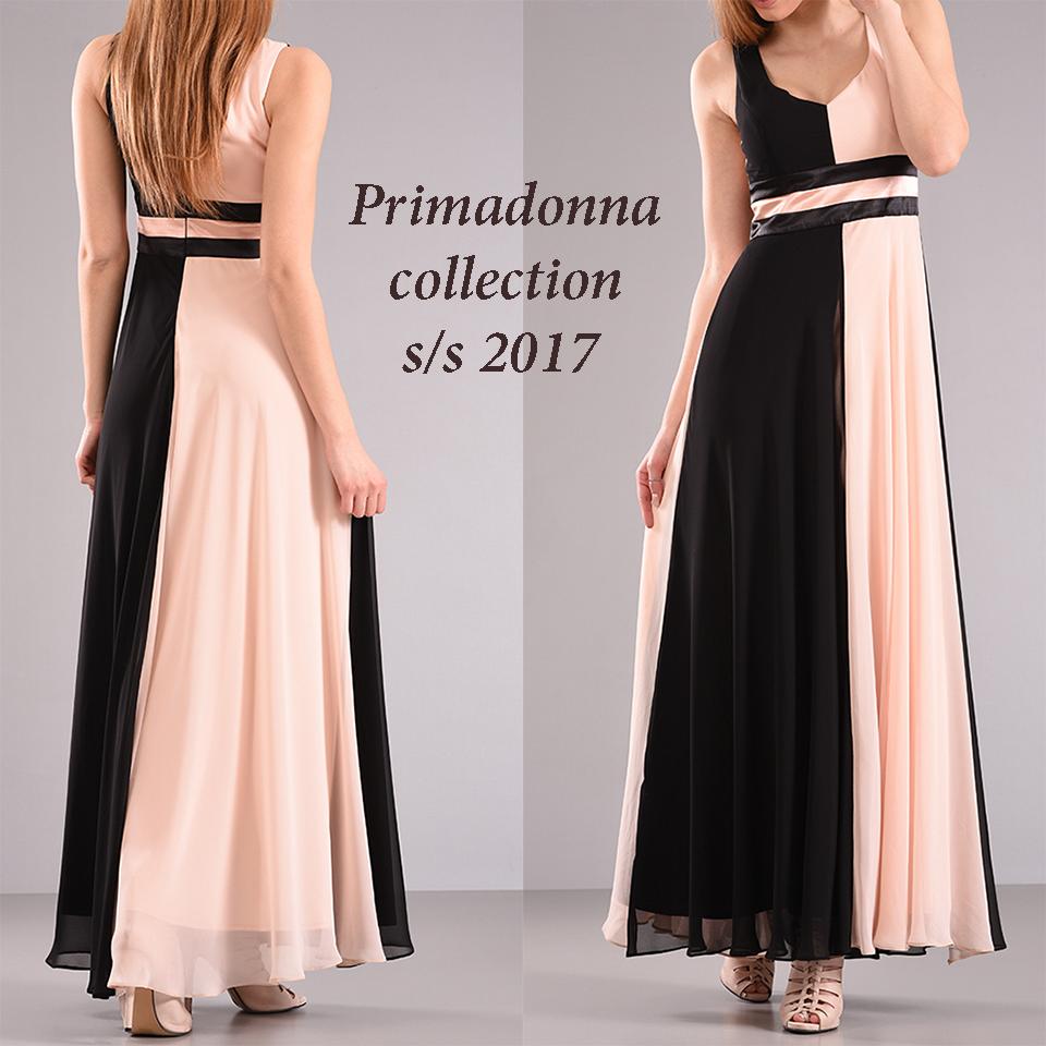 ce16b434cdb0 Γυναικεία μόδα by Primadonna   Maxi δίχρωμο βραδινό φόρεμα