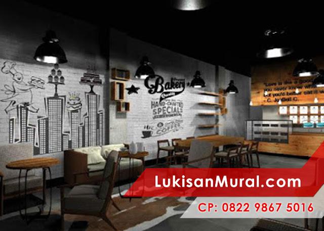 lukisan dinding cafe