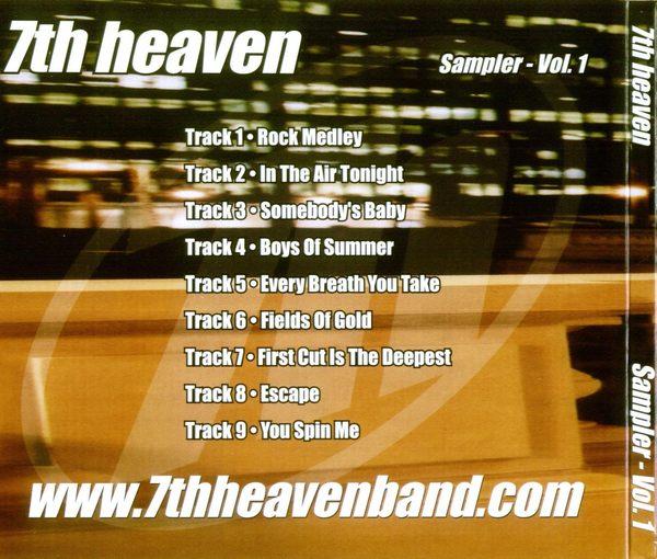 7th HEAVEN - Sampler Vol.1 [digipak] back