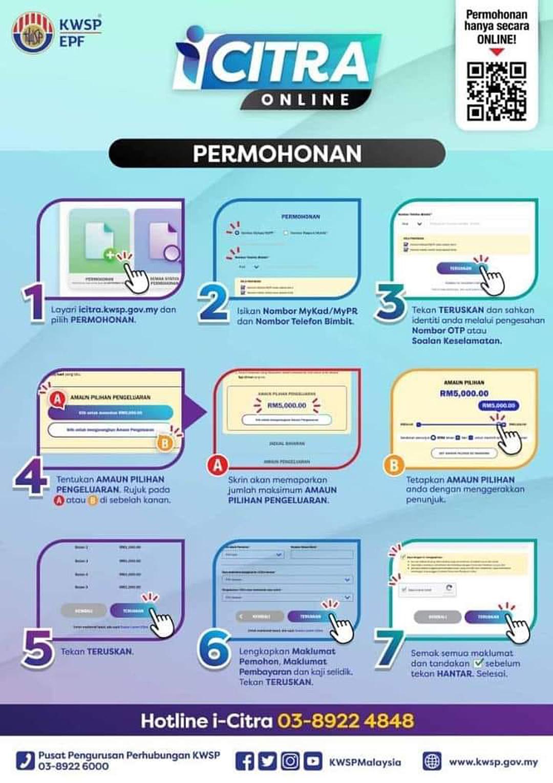 Cara Permohonan Pengeluaran i-Citra Online Bermula 12 Julai 2021
