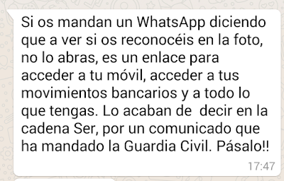 Comunicado Guardia Civil