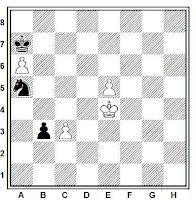 Estudio artístico de ajedrez de José Mandil, Chess-1943/44