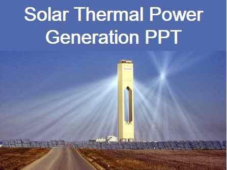 Solar Power Generation Seminar Report Pdf