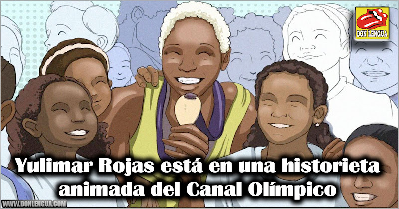 Yulimar Rojas está en una historieta animada del Canal Olímpico