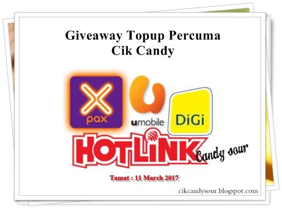 Giveaway Topup Percuma by Cik Candy
