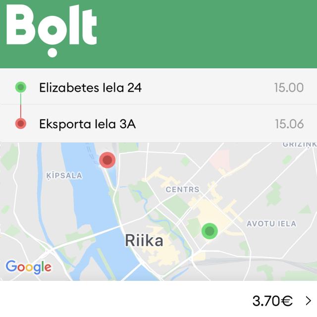 Riika taksi - Riika Bolt