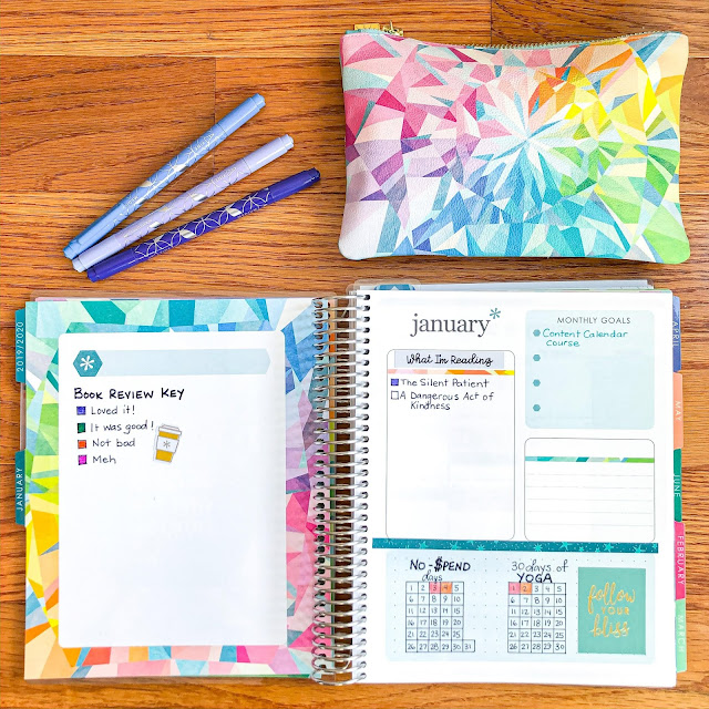 Photo of Erin Condren Life Planner month overview page.