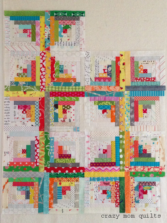 Quilting Designs For Log Cabin Blocks : crazy mom quilts: building a log cabin quilt