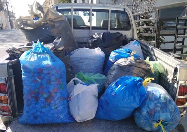 Το 1ο Δημοτικό Σχολείο Κρανιδίου συγκέντρωσε πλαστικά καπάκια για την αγορά αναπηρικού αμαξιδίου