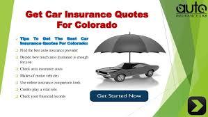 Car Insurance Quotes Colorado springs online