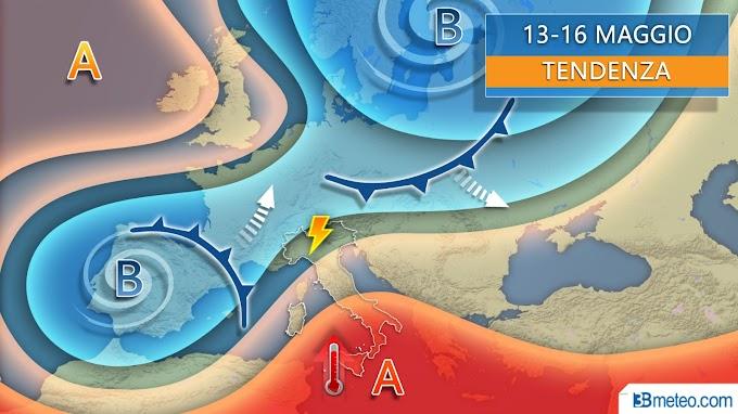 3BMeteo: ''Settimana di forti temporali al nord, al Centro-Sud in arrivo ondata di caldo africano''