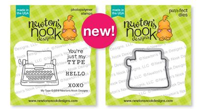 My Type  | Mini Valentine Typewriter Stamp Set and Die Set by Newton's Nook Designs #newtonsnook