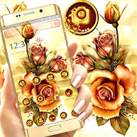 Golden Rose Shiny Flower Launcher Theme Apk Download for Android