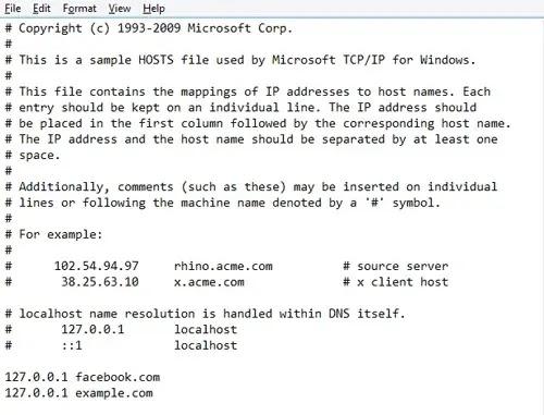كيفية حظر و حجب مواقع الويب باسنخدام ملف Hosts