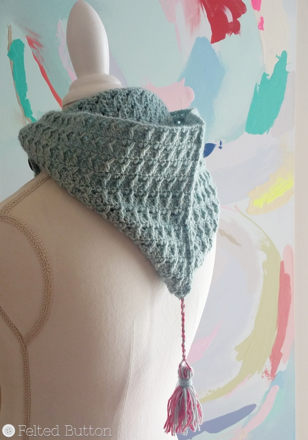 Petrichor Hood -- free crochet pattern by Susan Carlson of Felted Button