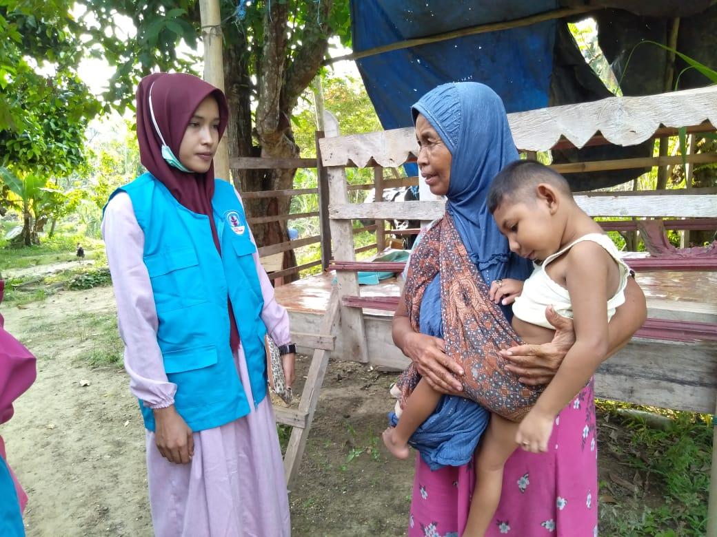 Lembaga Peduli Dhuafa (LPD) Aceh Utara Kunjungi Dhuafa di Nibong Aceh Utara.