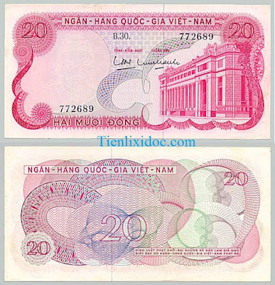 20 đồng việt nam cộng hòa 1969
