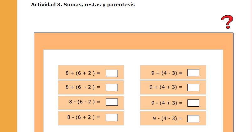 Resultado de imagen de sumas y restas combinadas