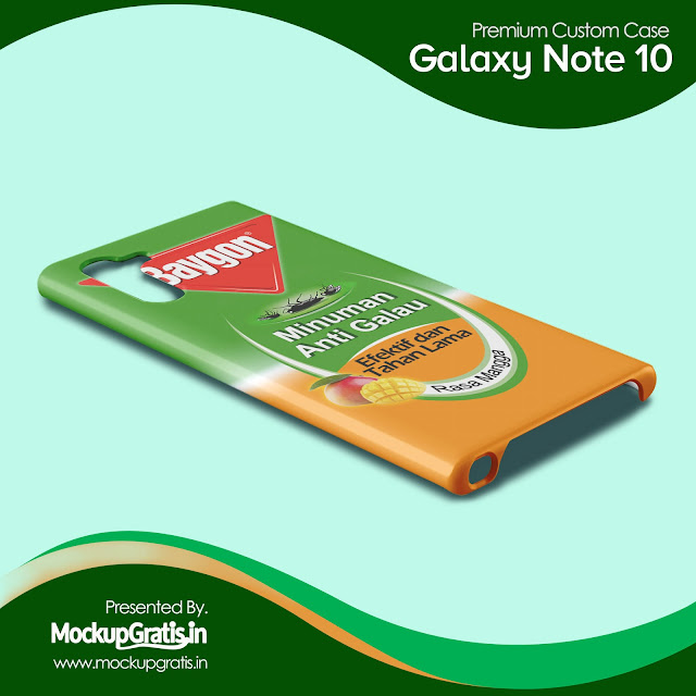 PSD Mockup Custom Case Samsung Galaxy Note 10 Gratis