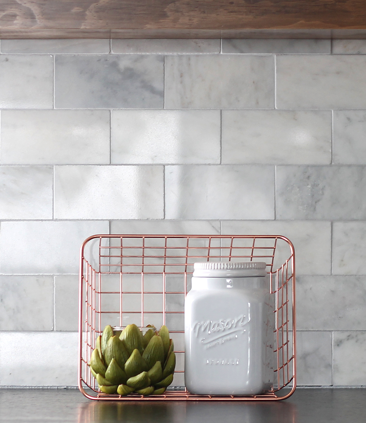 how to install a marble subway tile backsplash yourself