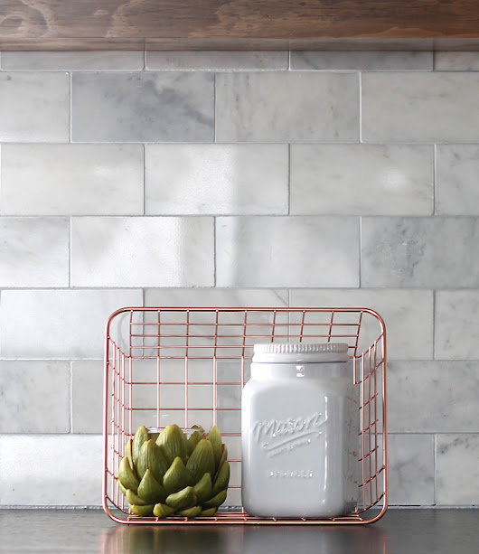 DIY Marble Subway Tile Backsplash: Tips, Tricks and What NOT To Do