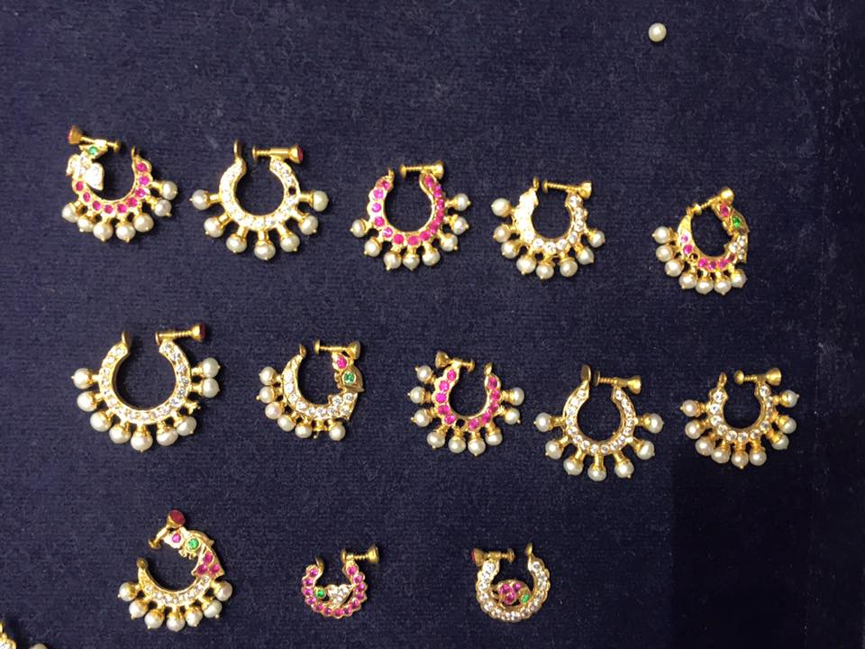 Latest Nose Rings Collection Sudhakar Gold Works