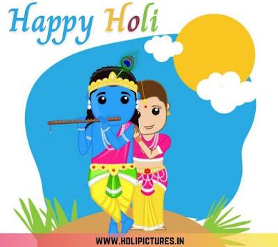 Radha Krishna Happy Holi WhatsApp status