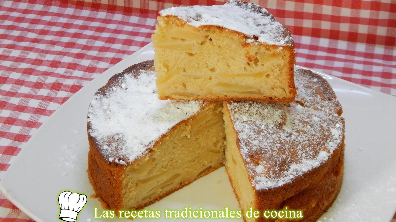 Receta Fácil De Bizcocho De Manzana (tarta Parisina)