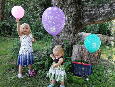 balloon & chalkboard announcement