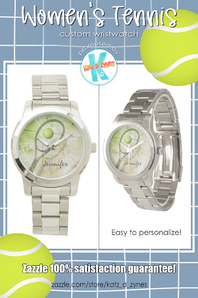 womens custom tennis watch with stainless steel wrist band
