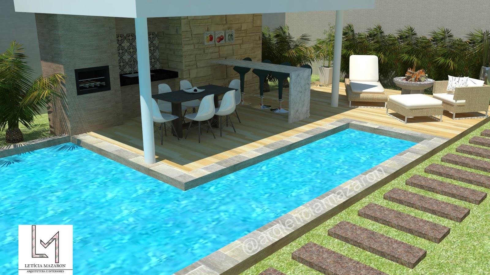 Projetos de area gourmet com piscina pm17 ivango for Projeto x piscina