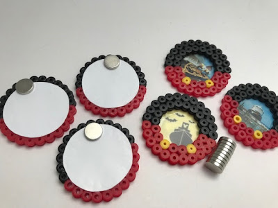 Hama bead magnets with a Disney theme