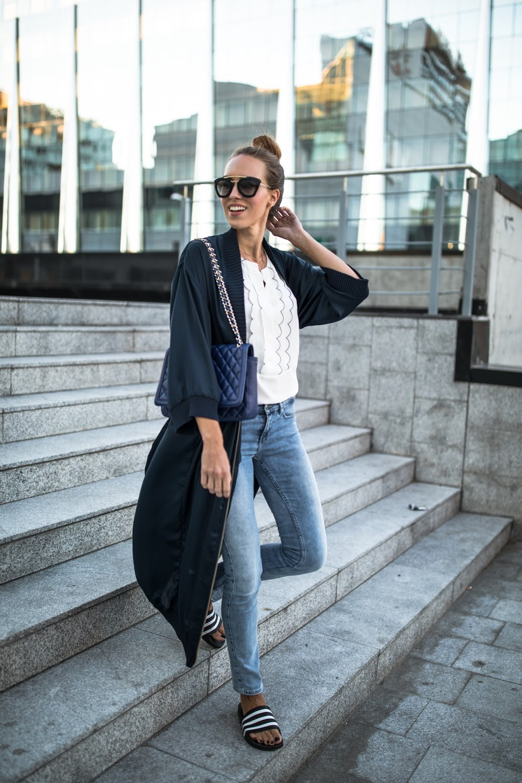 kimono over jeans outfit summer