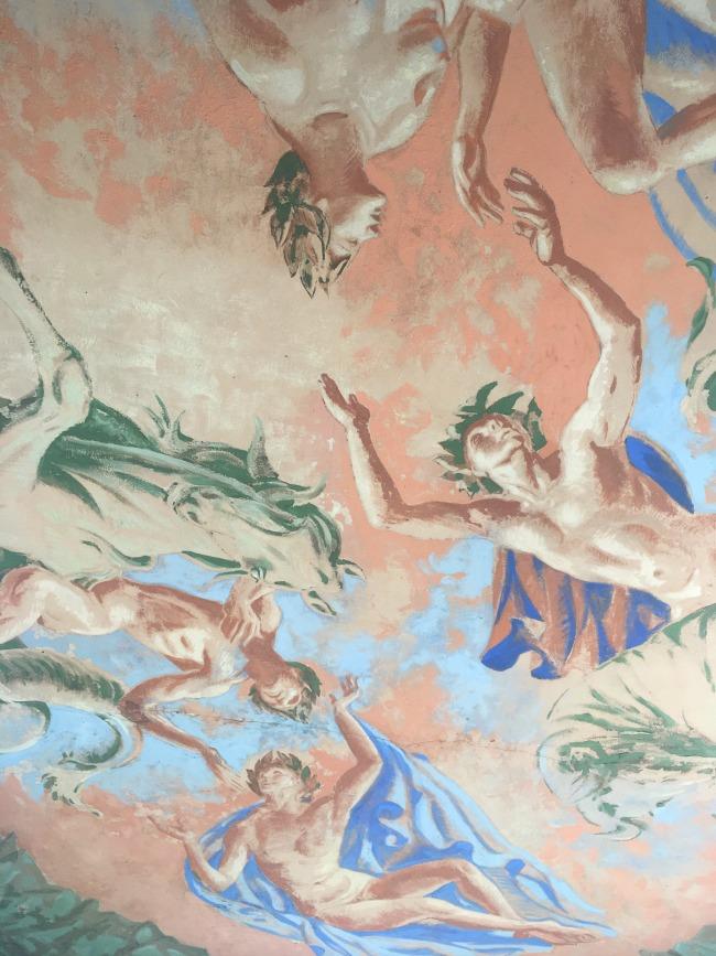 Portmeirion-Wales-painted-italianate-ceiling-fresco