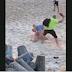 Casal faz sexo no meio da praia, mas é interrompido por homem furioso