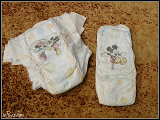 Disney Characters on Huggies Diapers