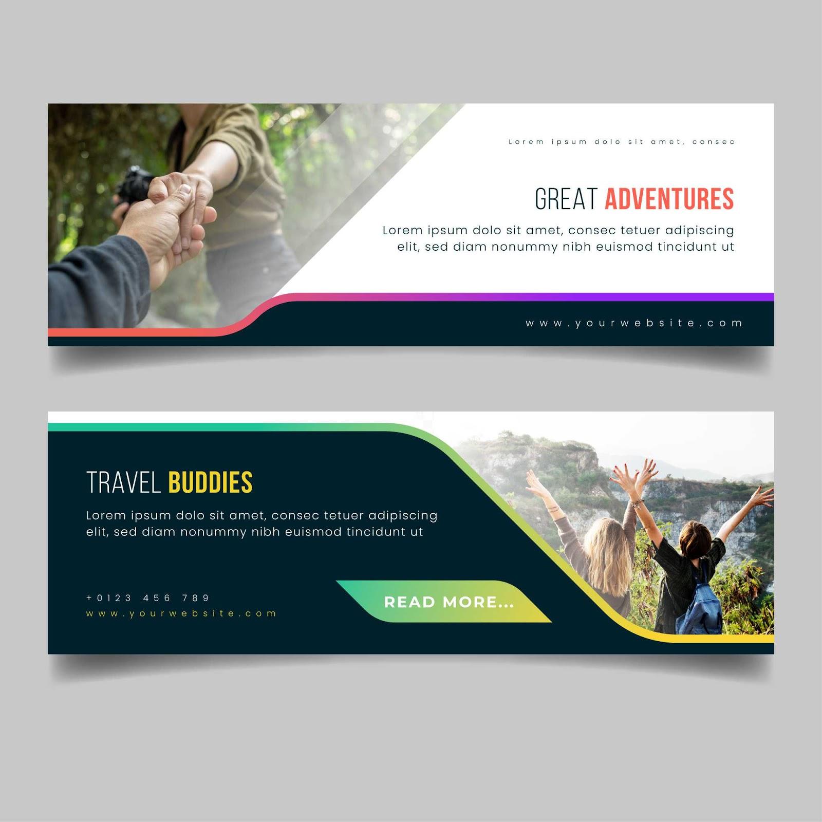 Desain Banner / Spanduk Travel Keren - Studio Art