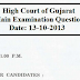 Gujarat Highcourt DySo Main Exam Old Question Paper