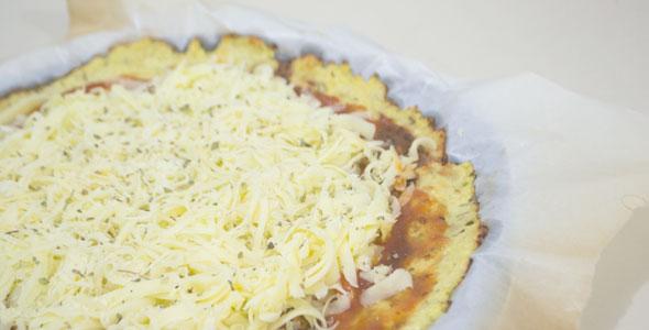 massa de pizza de couve flor