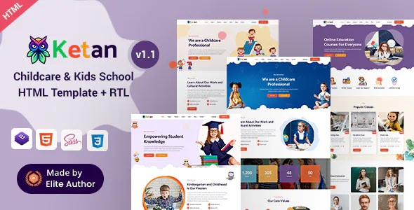 Best Childcare and Kids School HTML Template