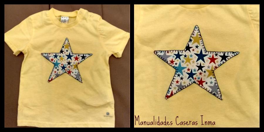 Manualidades Caseras Inma Camiseta amarilla de estrella para niño