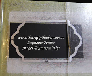 www.thecraftythinker.com.au, Cutting a tag with Lots of Labels dies, #cardmaking, #thecraftythinker, Stampin' Up Australia Demonstralia, Stephanie Fischer, Sydney NSW