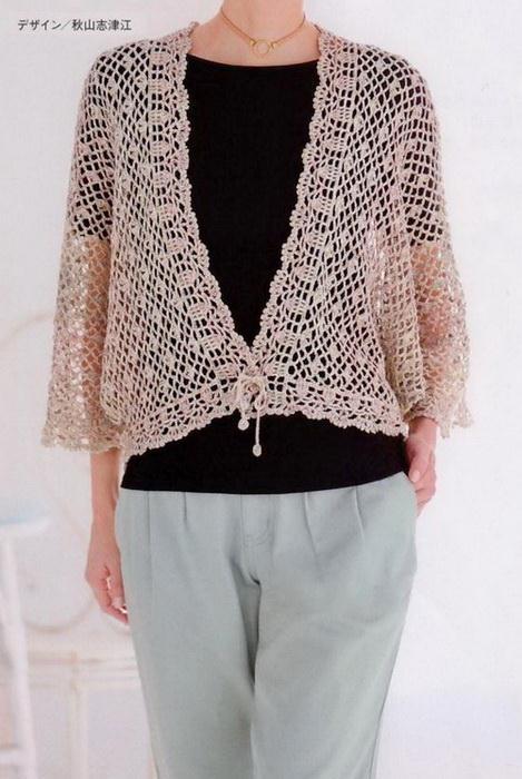 Crochet lace sweater #crochetlace